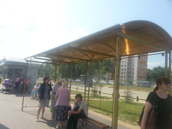 תחנת ההמתנה במינסק: גדולה אבל לא מגינה מפגעי מזג האוויר